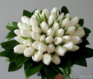 Bukiety ślubny - tulipany